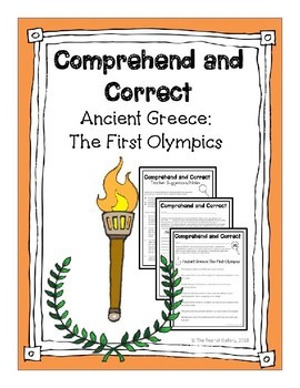 Ancient Greece: Olympics (Comprehend and Correct)