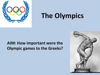 Ancient Greece: Olympics Interactive Lesson Plan Bundle with Creative Activity