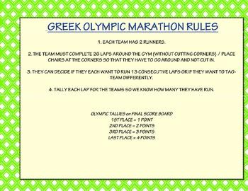 Ancient Greece Olympics Unit