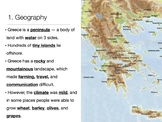 Ancient Greece Overview Powerpoint and Notes
