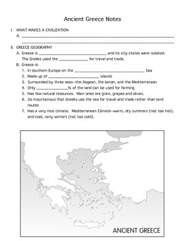 Ancient Greece Packet