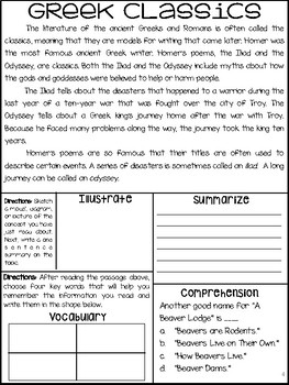Ancient Greece: Paired Text Articles w/ Comprehension Questions