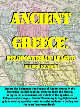 Ancient Greece - Peloponnesian League Guided Reading