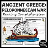 Ancient Greece Peloponnesian War Reading Comprehension Worksheet Greek