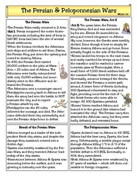 Ancient Greece:  Persian & Pelopponesian Wars