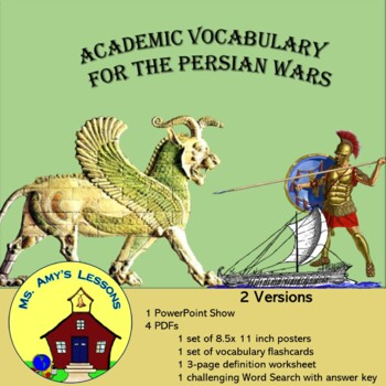 Ancient Greece: The Persian War Academic Vocabulary Packet
