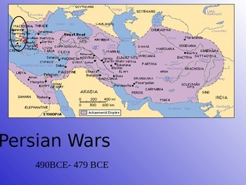 Ancient Greece - Persian Wars PowerPoint