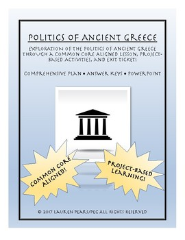 Ancient Greece Politics: Lesson and Projects Pack