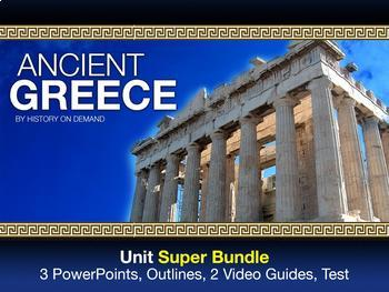 Ancient Greece Unit Bundle PowerPoints, Outlines, and Video Guides