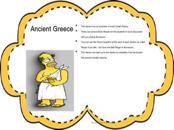 Ancient Greece Powerpoint-Multiple Lessons