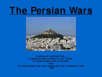 Ancient Greece Powerpoint: The Persian Wars
