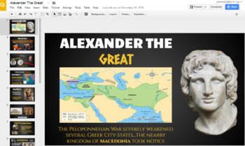 Ancient Greece Prezi + Alexander The Great Google Slides Presentation