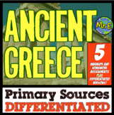 Ancient Greece Primary Sources: 5 DIFFERENTIATED Primary Sources for Greece!