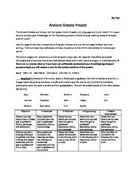 Ancient Greece Project