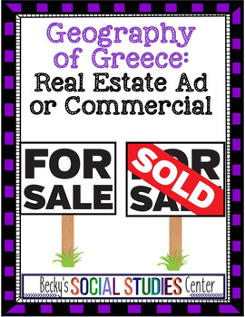 Ancient Greece Project: Create a Real Estate Ad or Commercial