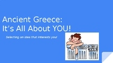 """Ancient Greece Project Based Learning Ideas: """"It's All About You!"""""""