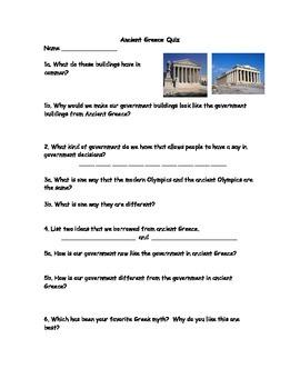 Ancient Greece Quiz