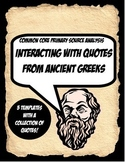 Ancient Greece Quote Activity Bundle Working with Primary