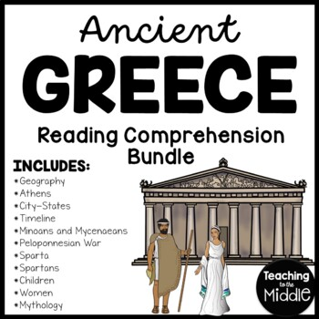 Ancient Greece Reading Comprehension Bundle; Athens; Sparta; Geography