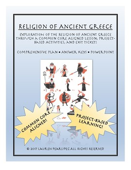 Ancient Greece Religion: Lesson and Project Pack