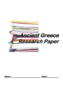 Ancient Greece Research Essay Student Packet useful for The Odyssey