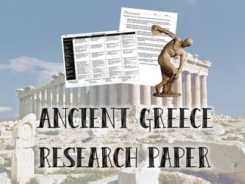 Ancient Greece Research Paper