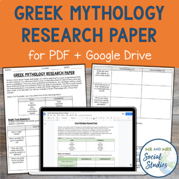 Ancient Greece Research Project