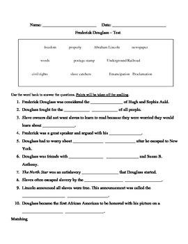 Frederick Douglass Test