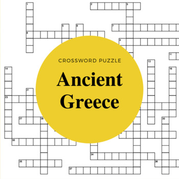 Ancient Greece Review Crossword Puzzle