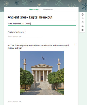 Ancient Greece Review Digital Breakout