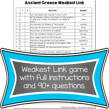 Ancient Greece Review Games
