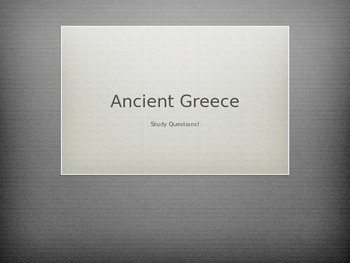 Ancient Greece Review PowerPoint