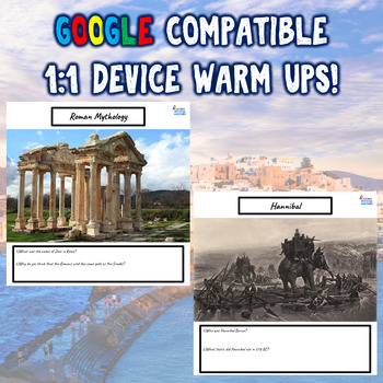 Ancient Greece & Rome 35 Bellringers Warm Ups - Mega-Pack - DBQ