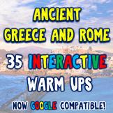 Ancient Greece & Rome 35 DBQ Warm Ups Bellringers Distance
