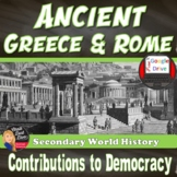 Ancient Greece & Rome Development of Democracy Lecture & Venn Diagram Activity