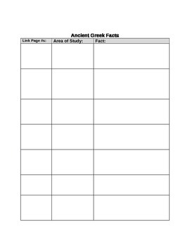 Ancient Greece & Rome Research Site Activity