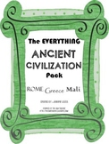 Ancient Greece, Rome, and Mali Study Guides and Quizzes Bundled