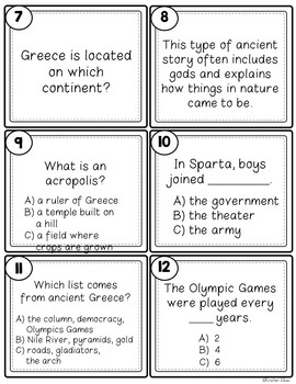 "Ancient Greece ""SCOOT!"" Game"