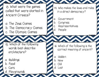 Ancient Greece Scoot / Task Cards