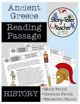 Ancient Greece Short History Reading Passage By Story Teller Teacher