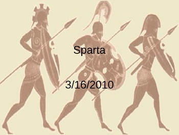 Ancient Greece - Sparta Powerpoint