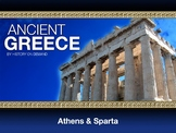 Ancient Greece Athens and Sparta PowerPoint with Guided Outline