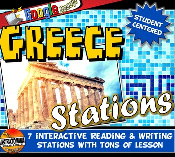Ancient Greece Stations, Graphic Organizer & Google Reading Investigation