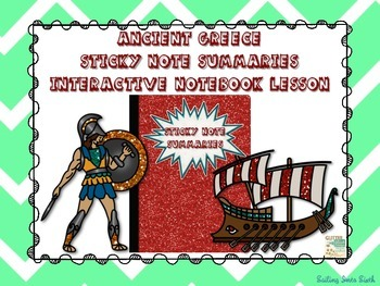 Ancient Greece - Sticky Note Summaries Interactive Noteboo