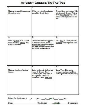 Ancient Greece Student Choice Summative Assessment