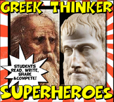 Ancient Greece Super Heroes Close Reading,Trading Card & C