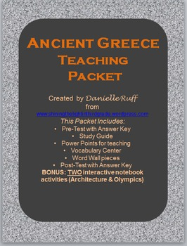 Ancient Greece Teaching Packet