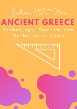 Ancient Greece: Technology, Science, and Mathematics Chart