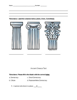Ancient Greece Test