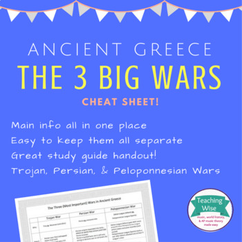 Ancient Greece - The Three Big Wars